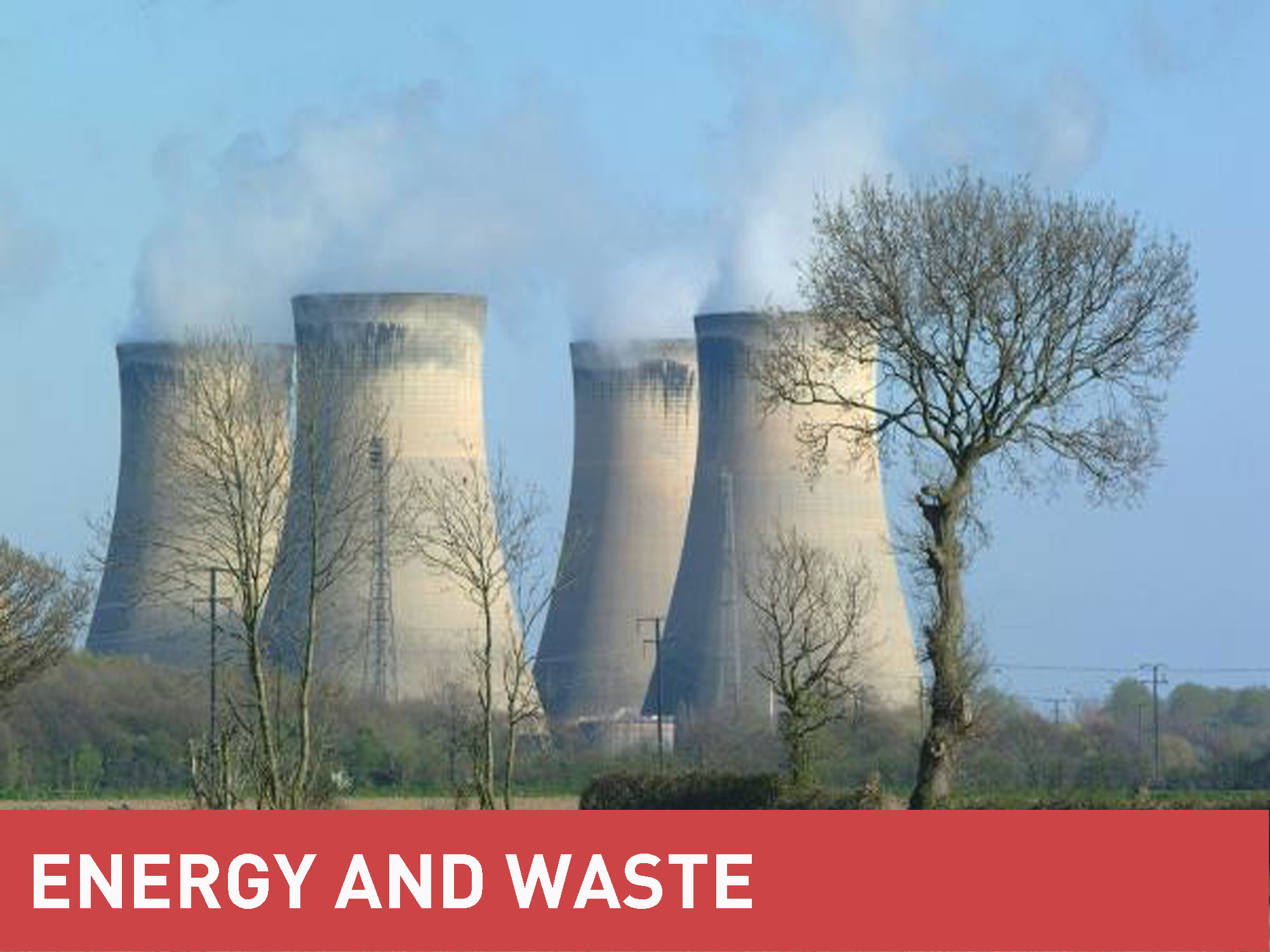 MGF Energy and Waste category banner in front of a picture of a chemical plant