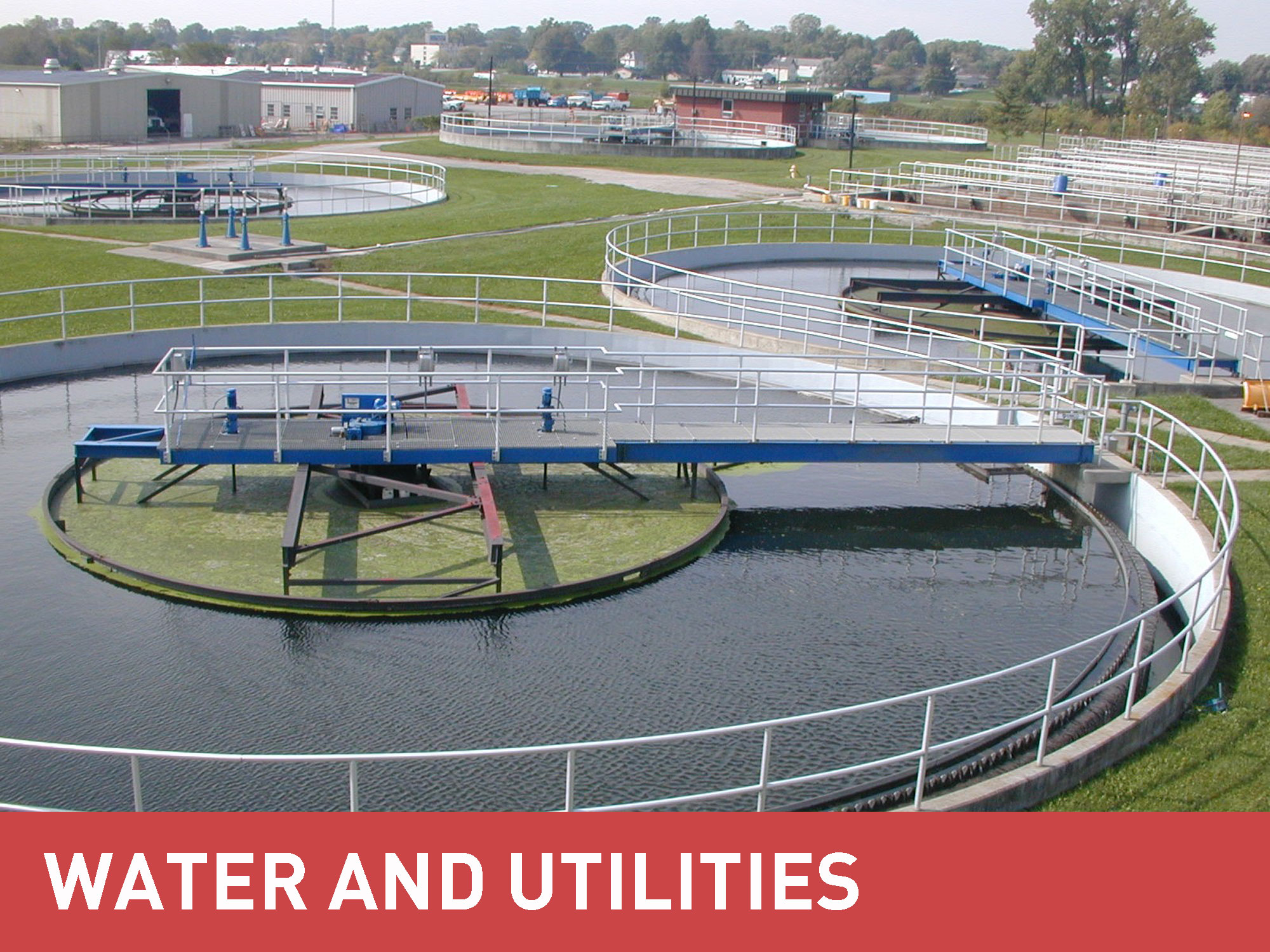 MGF water and utilities category with a water plant works image background