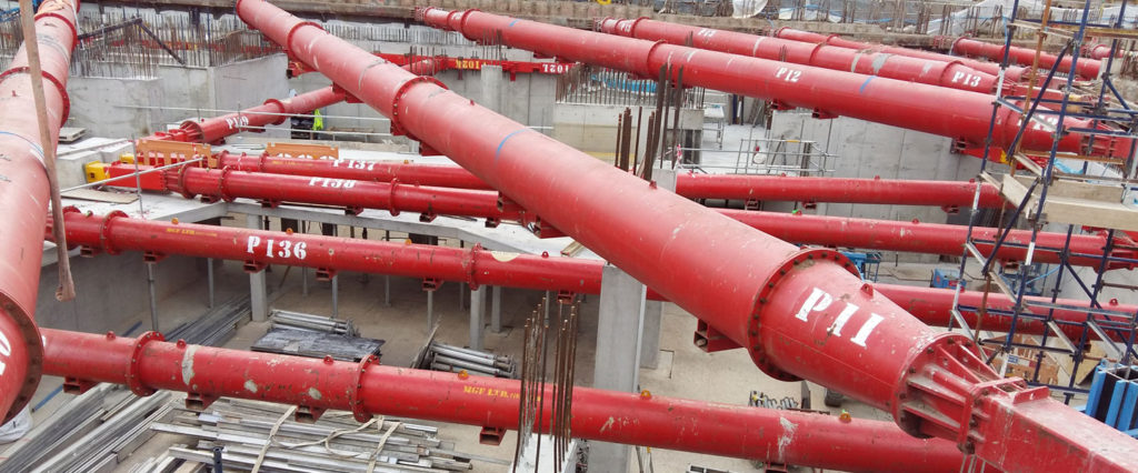 Multiple red MGF hydraulic bracing systems installed for the University of Ulster