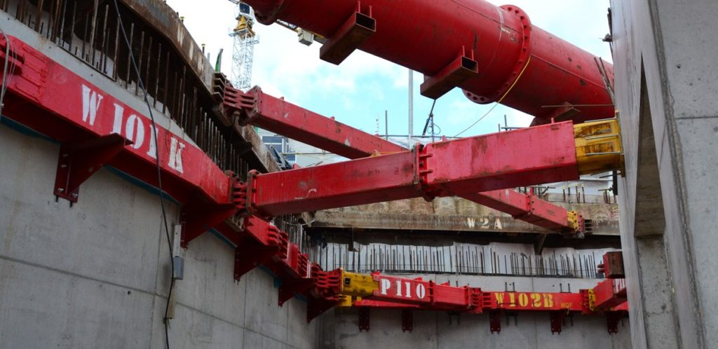 Red MGF hydraulic systems installed at an excavation for the University of Ulster